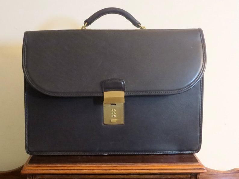 139f3fa687e8f Labor Day Sale Clearance Coach Diplomat Black Leather Briefcase Attache  Laptop IPad Case- Combination Missing- Won't Lock