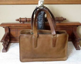Dads Grads Sale Coach Open Marketing Tote In Tabac Leather -Made In New York City - Style No 9665- VGC- Rare Bag
