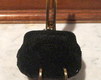 Dads Grads Sale Small Black Beaded Kisslock Coin Purse