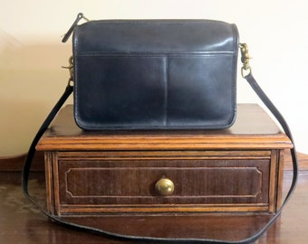 Etsy BDay Sale Coach Companion Bag In Navy Leatherware With Leather Strap- Pre-orderly Creed - Made in U.S.A. Vgc to Euc