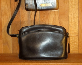 Etsy BDay SaleCoach Anderson Bag Black Leather With Adjustable Crossbody Strap- Made in United States- VGC