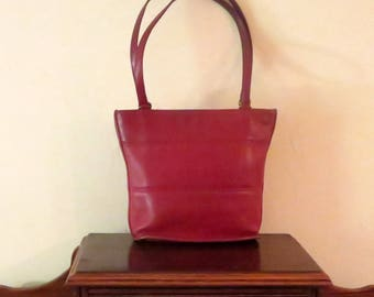 Dads Grads Sale Coach Tribeca Shopper In Red Leather Style No. 9098 - Made In United States- GUC