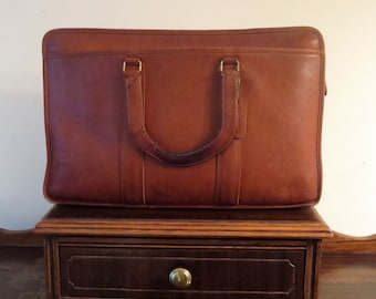 Dads Grads Sale Coach Embassy Briefcase In British Tan Leather Made In The Factory In NYC Style No 5090