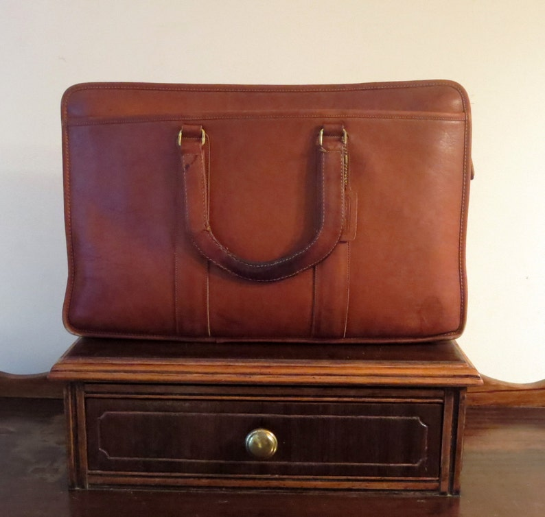 00d2178c128b Spring Sale Coach Embassy Briefcase In British Tan Leather