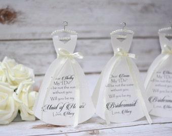 Blush will you be my bridesmaid cards bridesmaid gifts bridal party gift bridesmaid proposal card rustic wedding