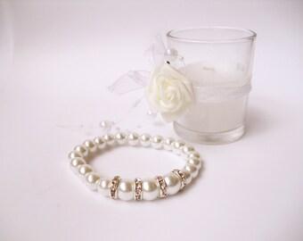 Bridesmaid Bracelets Pearl Bracelet Simple Pearl Bracelet Jewelry Ivory Pearl Bracelet Weddings Bridesmaids