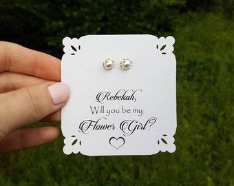 Bridesmaid Earrings Pearl Earrings  White Pearl Earrings Wedding Jewelry Bridal Pearl Earrings Pearl Earrings Maid of honor Matron of honor