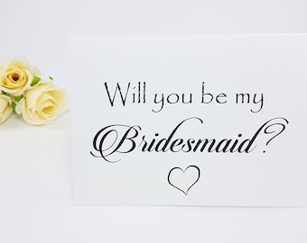 Set of 3,4,5 will you be my bridesmaid gift will you be my bridesmaid card Will you be my maid of honor Bridesmaid card Maid of Honour Card