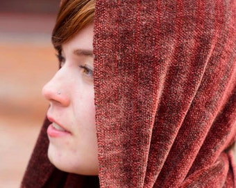 Burnt Cherry -- Chenille Scarf