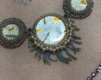 Waterfall Hand Beaded One of a kind Design