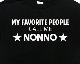 Nonno Shirt Grandpa T Shirt Grandfather Gifts For Grandpa Clothing Family Shirt My Favorite People Call Me Nonno T Shirt Mens Tee - SA655