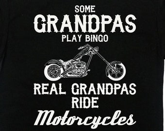74f966ff Funny Grandpa Shirt Motorcycles Gifts For Grandfather T Shirt Papa Shirt  Grandpa Gift Ideas Fathers Day TShirt Biker Gifts Mens Tee - SA528