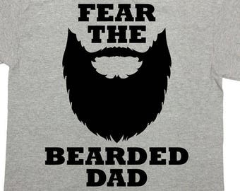 3dd81a633 Funny Dad Shirt Beard Gifts For Daddy T Shirt Beard TShirt Fathers Day  Present For Him Father Clothes Fear The Bearded Dad Mens Tee - SA813