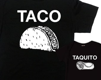 12d6e087 Dad And Baby Shirts Father And Son Gifts First Fathers Day Daddy And Me  Outfits Daddy And Daughter T Shirts Taco And Taquito - SA1251-1252