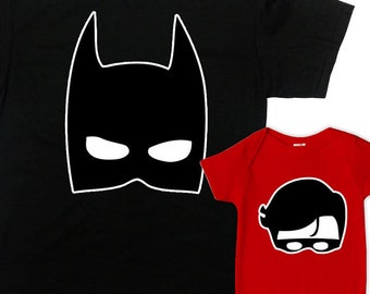 c0665678 Dad And Son Matching Shirts Father And Son Matching Outfits First Fathers  Day Gift For New Dad Superhero Shirts Batdad Robin - SA1276-77