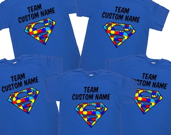e7136025 Team Autism Shirts Autism Walk Shirts Autism Aware Autism Pride Autism  Advocate Support T Shirt Autism Awareness Day Custom Tees - SA1049