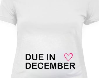 37e9d8ca7f89d Pregnancy Announcement T Shirt Custom Month Pregnant Shirt Maternity Wear  Baby Shower Gift Ideas For Her Expectant Mother Ladies Tee - SA438