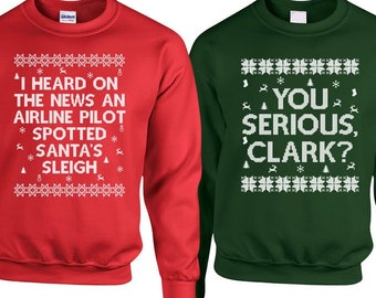 Christmas Couple Sweaters Christmas Vacation Sweater ...