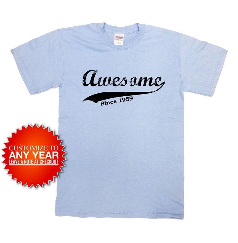d7052f56 Funny Birthday T Shirt 60th Birthday Gift 60 Years Old Custom   Etsy