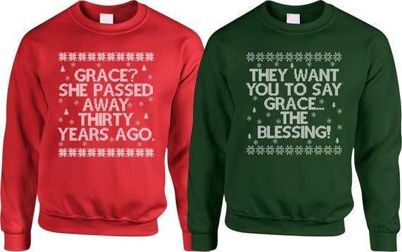 Christmas Couple Sweaters Christmas Vacation Sweater Griswold Christmas  Pullover Matching Couple Ugly Xmas Sweaters Movie Quotes - SA856-857