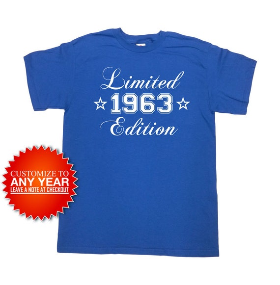 d35b55e43 Funny Birthday Shirt 1963 Any Year 55th Birthday Gift 55 | Etsy