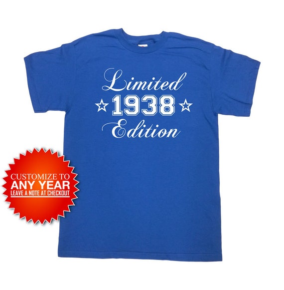 Funny Birthday Shirt 1938 Any Year 80th