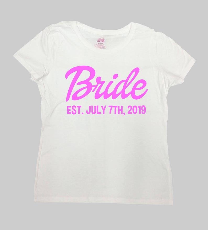 a7760f17df Bride T Shirt Established Any Date Wedding Shirt Just | Etsy