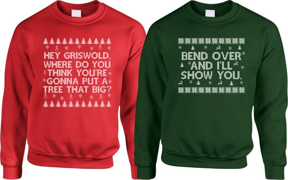 Christmas Vacation Sweaters.Matching Couples Sweaters Christmas Vacation Sweaters Christmas Movie Quotes Griswold Christmas Pullovers Couples Gift For Xmas Sa861 862