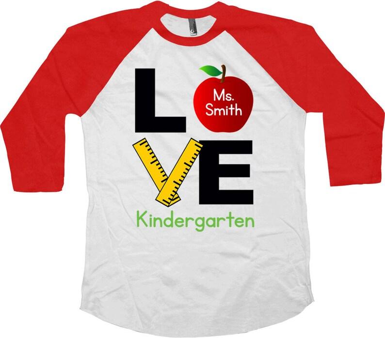 22bcd711e7 Teacher Appreciation School Shirt Kindergarten Teacher T Shirt | Etsy