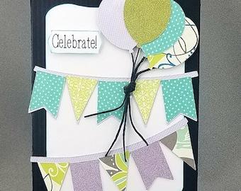 Handmade Trifold Black Birthday Card