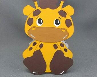 Handmade Giraffe card