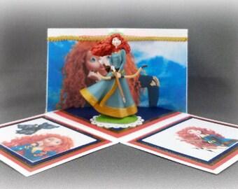 Handmade Princess Merida from Brave Exploding Box Card
