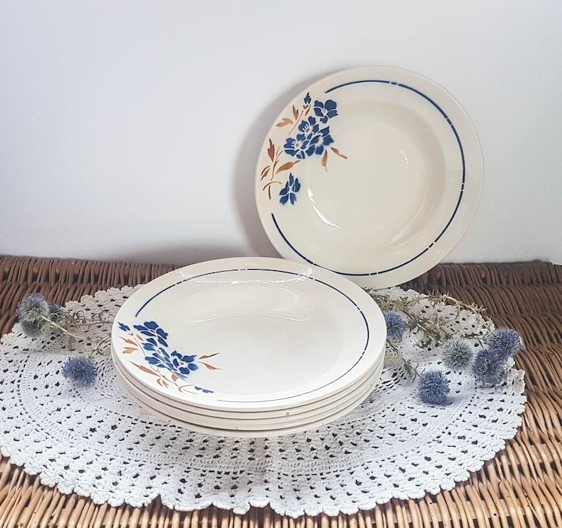 218 & Hollow plates x6 Badonviller