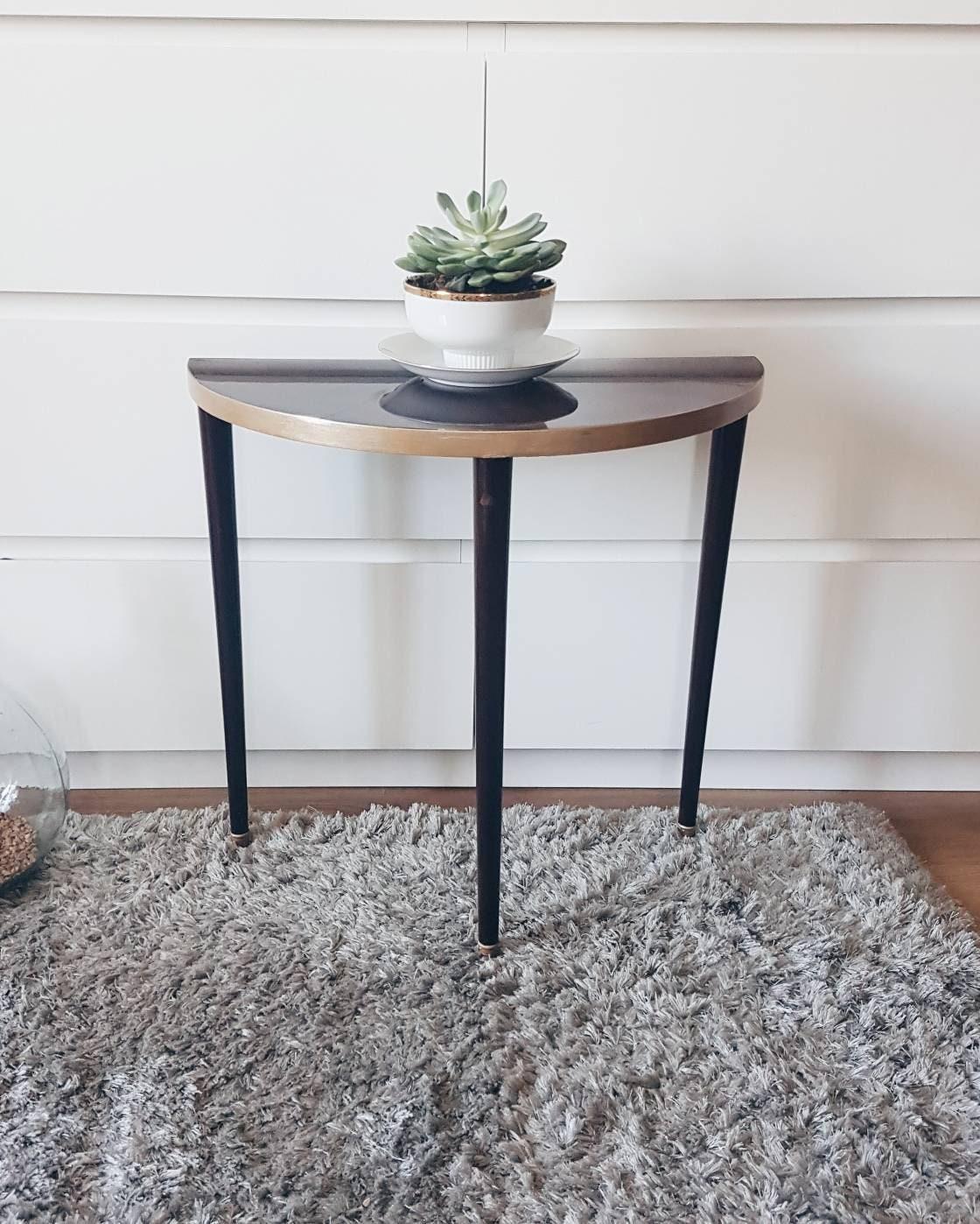 table d appoint bout de canap demi rond demi lune. Black Bedroom Furniture Sets. Home Design Ideas