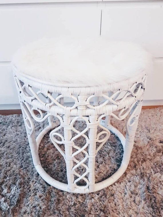 Remarkable Wicker Rattan Coffee Table Stool 80S Arabesques White T Deco Furniture Vintage T Idea Christmas Armchair Customization Uwap Interior Chair Design Uwaporg