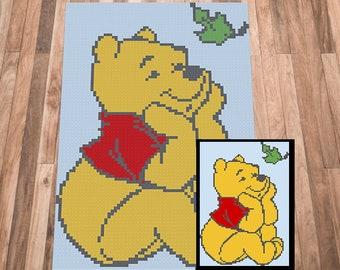 C2C crochet Graph, Winnie the pooh Crochet pattern