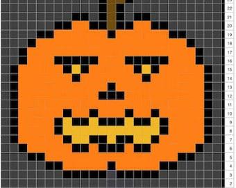 Halloween Pumpkin C2C Crochet Pattern