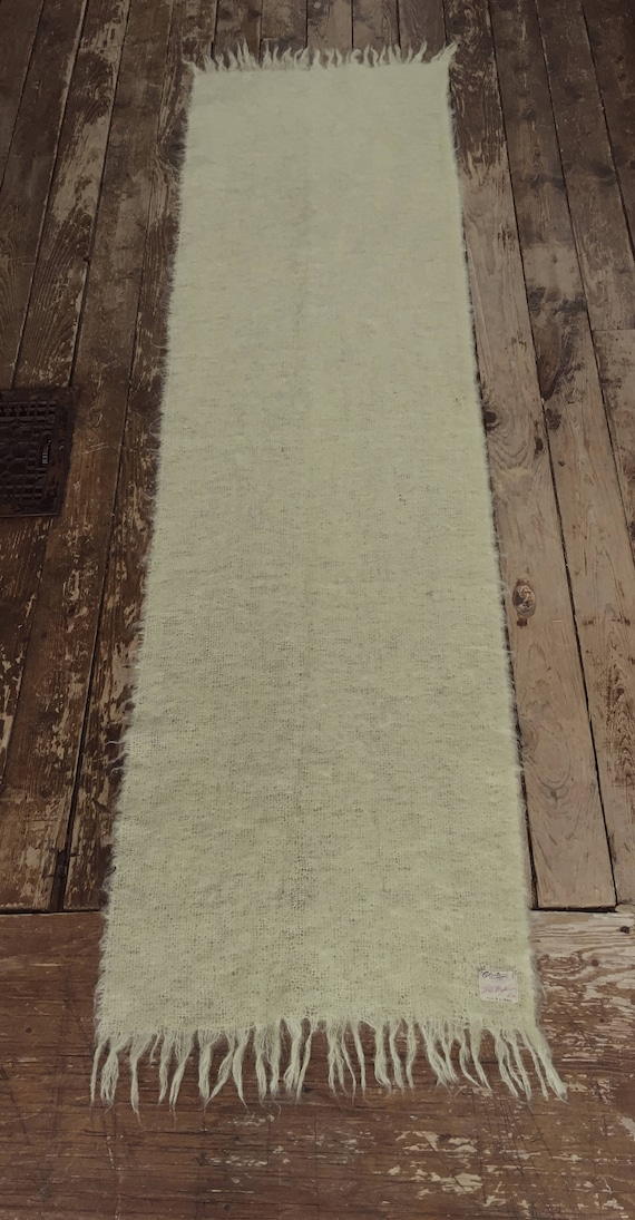 Pale yellow Mohair scarf or throw