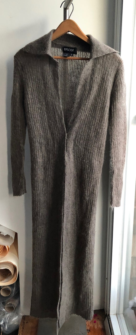 long skinny mohair sweater wrap