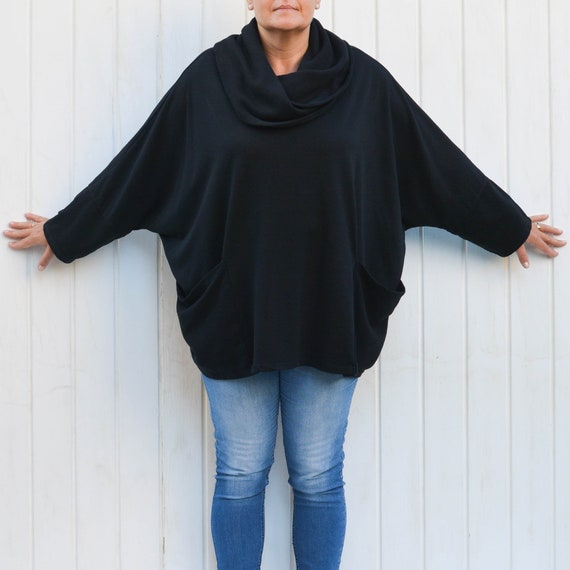 ef1324d459 Plus Size Oversized 68 Bust Tunic Top 16 18 20 22 24 26
