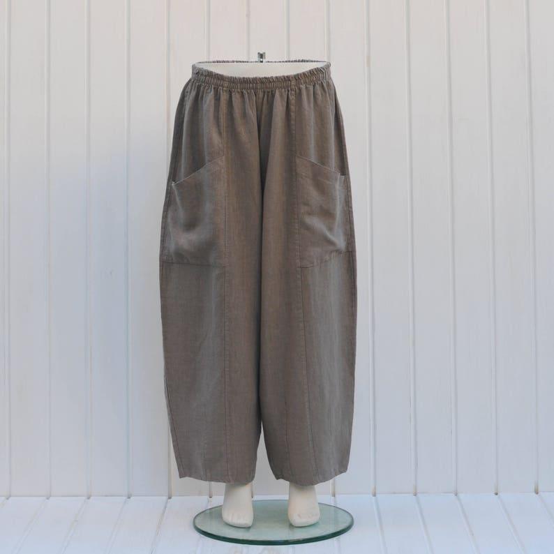 abd2e1bd25a Plus Size Linen Trousers Pants 16 18 20 22 24 26 28 30 32 1X