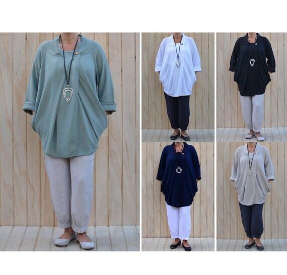 15f54f77c25 Womens Lagenlook Plus Size Wrap Top Cardigan Jacket Artsy