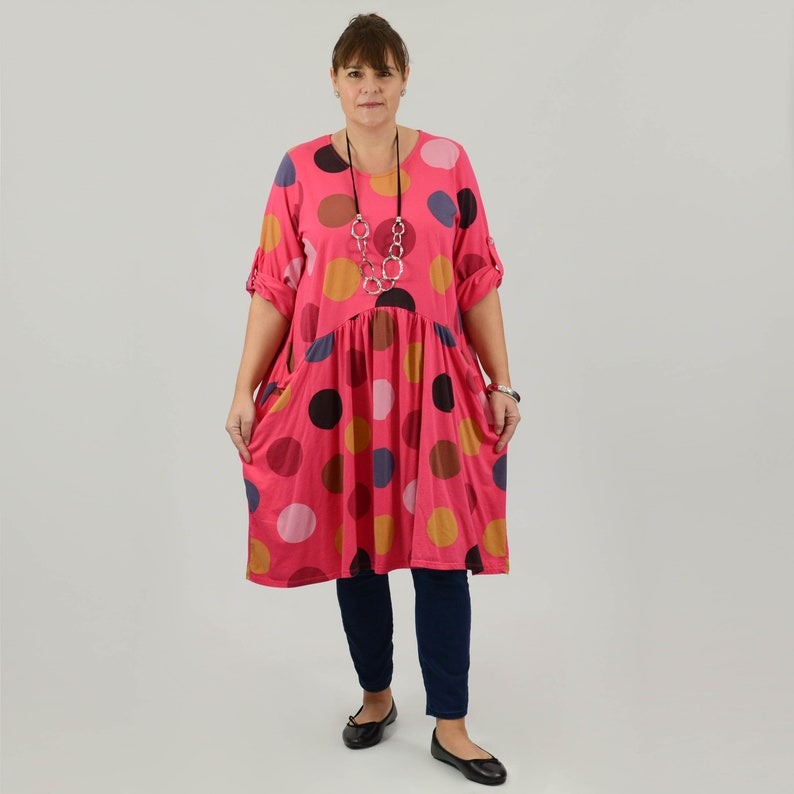 da186fe877a5c Lagenlook Womens Plus Size Tunic Top Spot Womens Clothing