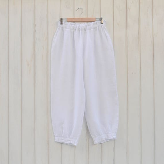 e28f1d737ed Lagenlook Linen Trousers Pants Quirky Plus Size Artsy UK 14