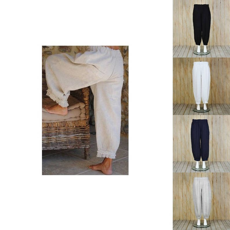 7f985e115b4 Lagenlook Linen Trousers Punto Pants Quirky Plus Size Artsy