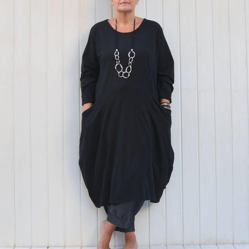 7d7ad04300 Ladies Lagenlook Plus Size Tunic Dress Parachute Pockets Boho