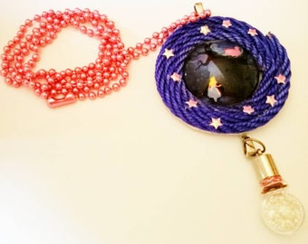 Necklace with pendant Alice in Wonderland