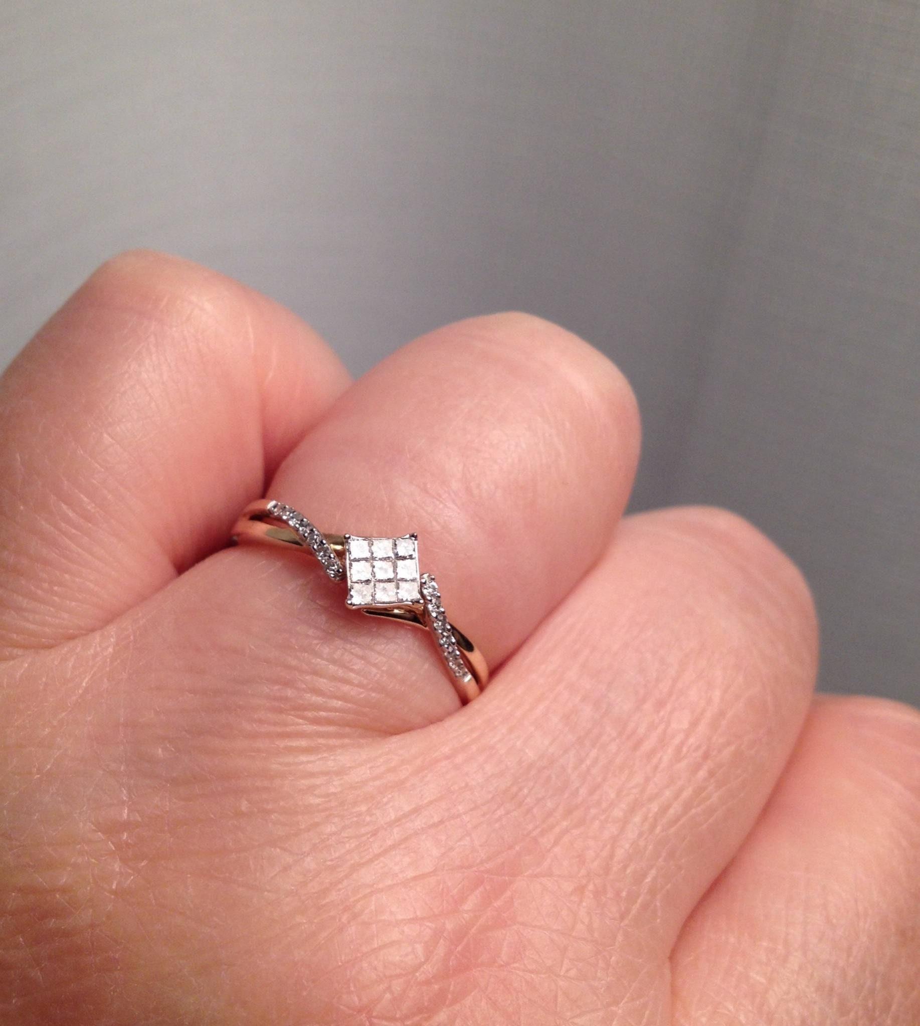 Sale Size 7 Diamond Ring 10K Yellow Gold Engagement Ring   Etsy