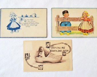 Vintage Dutch Themed Postcards Postmarked 1909 1913 And 1914