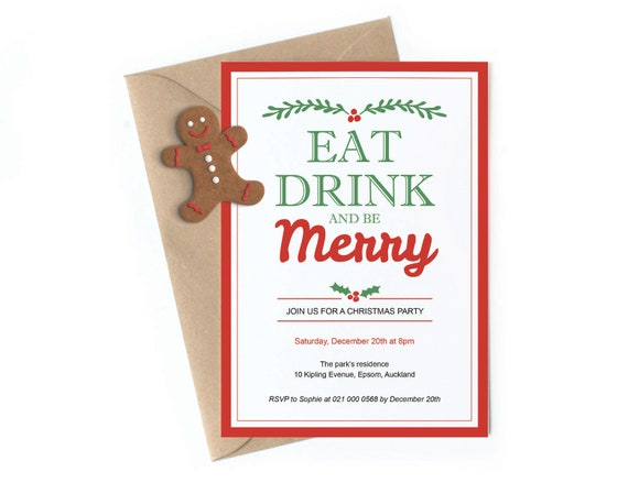picture regarding Printable Christmas Invitations titled Xmas Invites Get together Printable Editable